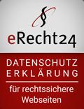Siegel eRecht24 für die Datenschutzerklärung
