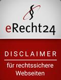Siegel von eRecht24 für den Disclaimer