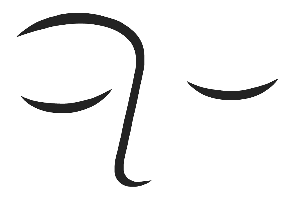Logo Zeichnung schlafende Augen